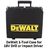 DeWALT Hard Plastic Universal Drill/Driver and Hammer Drill Tool Case
