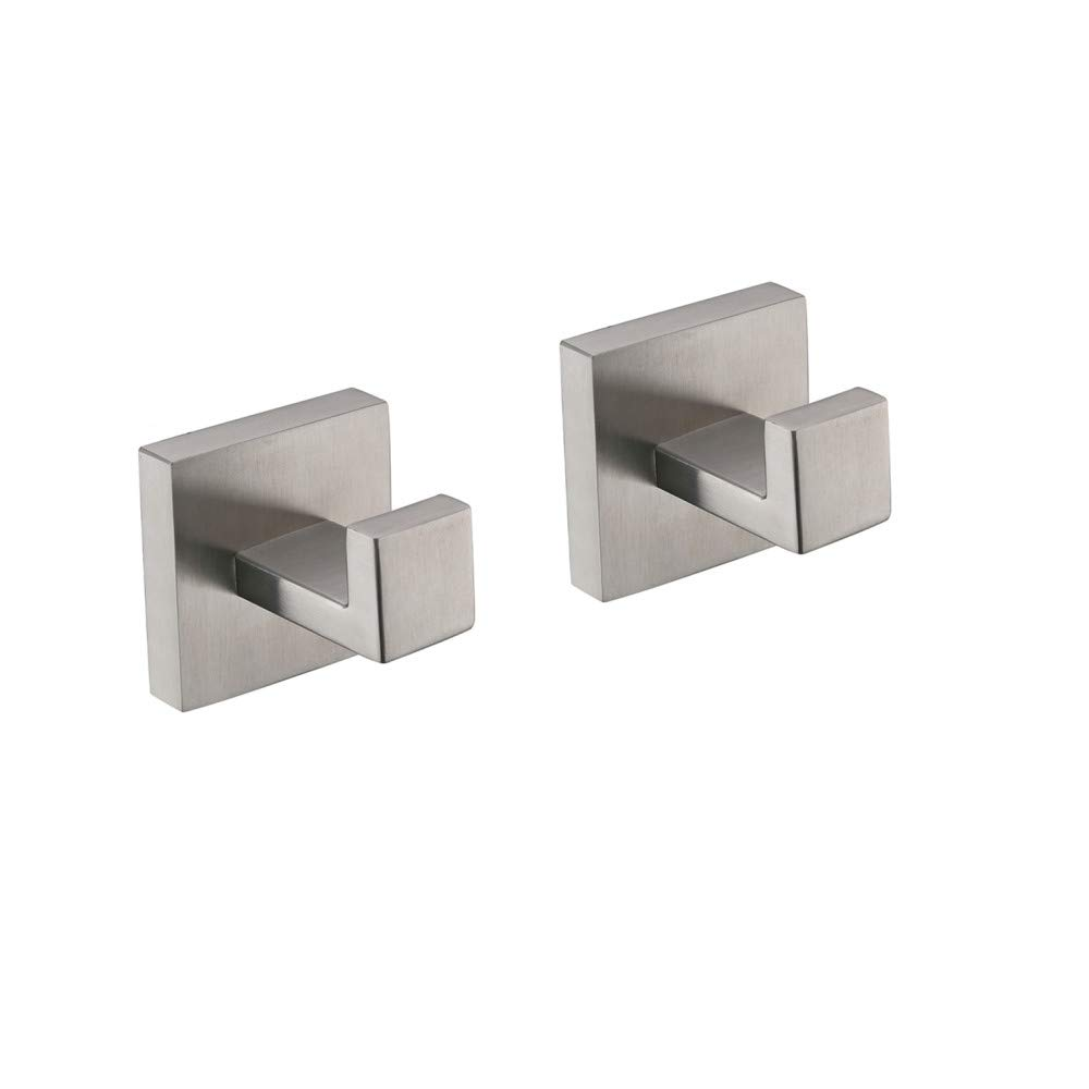 TURS SUS 304 Stainless Steel Coat Hook Towel/Robe Clothes Hook for Bath Kitchen Garage Heavy Duty Wall Mounted