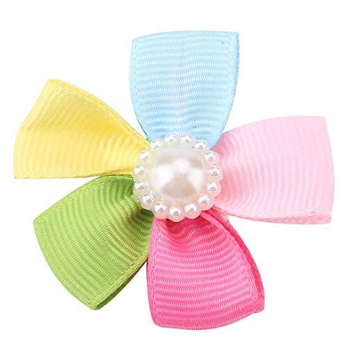 Qiterr Cute Pet Bow Tie Dog Puppy Grooming Hair Clip Hairpin Sun Flower Dog Hair Bow Accessories]()