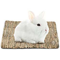 Seagrass Rabbit Mat - Protect Paws from Wire Cage - Treat Bunny's Sore Hocks - Handmade Woven Play Bed - Pet-Safe, Edible Chew Toy - Water-Resistant, Eco-Friendly Couch - Add in Cage or on Floor