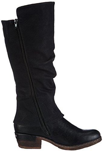 Rieker 93655 - Botas camperas Mujer Negro (Schwarz/schwarz/kastanie)