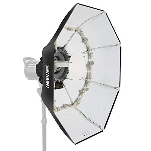 Neewer Folding Beauty Dish Octagonal Softbox 34 inches/85 centimeters, with Center Deflector Disc, Removable Diffuser and Bowens Speed Ring for Monolight Studio Flash in Portrait and Event Photography