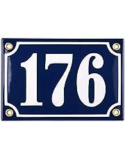 Sosenco Adresplaatjes - Gepersonaliseerd Geëmailleerde Plaat Huisnummer – een Huisnummerbord – Waterdichte Adresbord - 10x15
