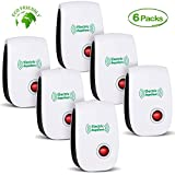 2019 Newest Pest Control Ultrasonic Repellent Electronic Repeller Indoor Plug in Mosquito Control for Bugs and Insects Mice Ant Mosquito Spider Rodent Roach, Child and Pets Safe Control (6 Packs)
