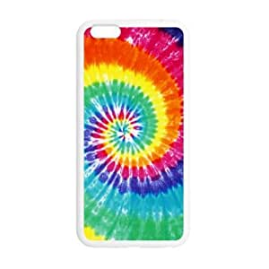 5.5inches Slim And Stylish Tie Dye Pattern iPhone 6 Plus TPU(Laser Technology) Case Cover for White And Black
