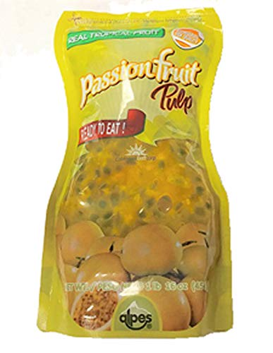 Real Tropical Fruit Passion Fruit Pulp Alpes Ready to Eat NET WT 16oz