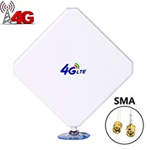 SMA 4G LTE Antenna, Aigital 35DBI GSM High Gain WiFi Signal Booster Amplifier Modem Adapter Network Reception Long Range Antenne With SMA Connector Cable for Mobile Hotspot (SMA Male Connectors)