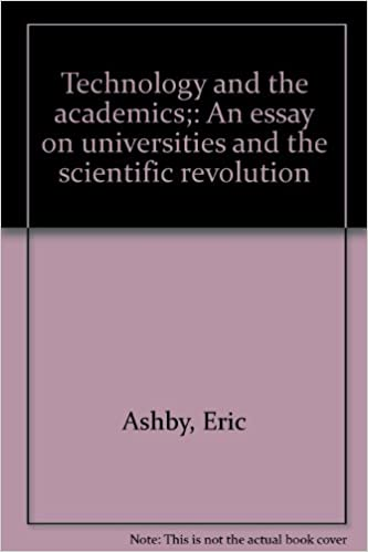 Amazoncom Technology And The Academics An Essay On Universities  Amazoncom Technology And The Academics An Essay On Universities And The Scientific  Revolution Eric Ashby Books How To Start A Synthesis Essay also Essay Writings In English  How To Write A Research Essay Thesis