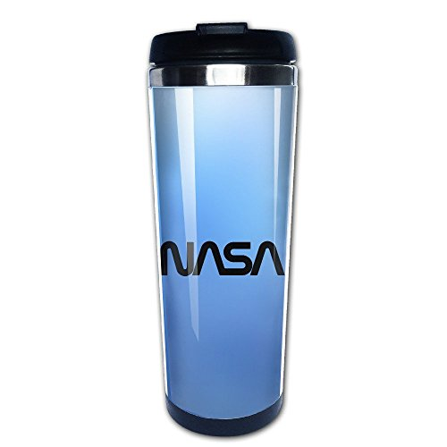 Price comparison product image Beaufiy NASA Logo Stainless Steel Travel Tumbler Coffee Mug Black