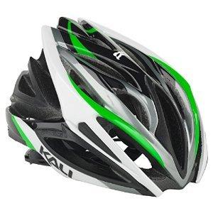 Cheap Kali Protectives Phenom Wave Road Helmet – BLACK/GREEN, SMALL/MEDIUM