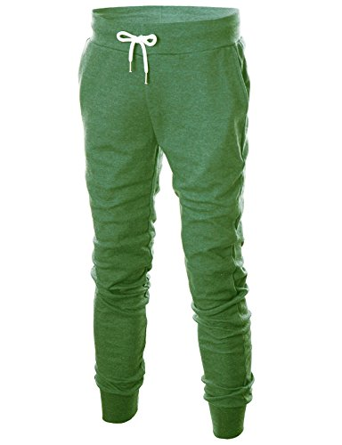 Ohoo Mens Slim Fit Lightweight Training Active Sweat Jogger Pants/DCA003-JADEGREEN-2XL for $<!--$24.99-->