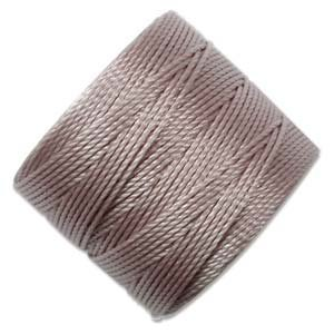 S-Lon Superlon #18 Twisted Nylon Bead Cord 77 Yard Spool Bobbin SILVER