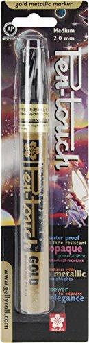 Sakura Of America Pen-Touch Metallic Marker Medium Point 2mm: Gold (Pen Touch Metallic Marker)
