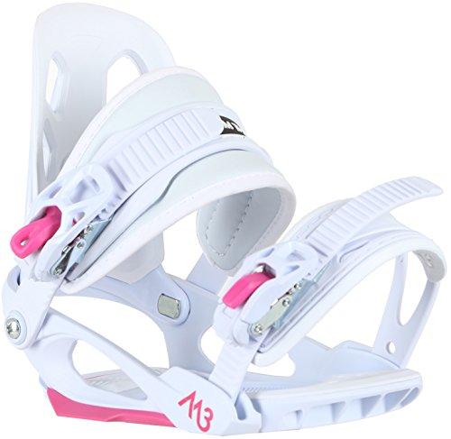 M3 Solstice Snowboard Bindings Girls Sz S/M (4-6)
