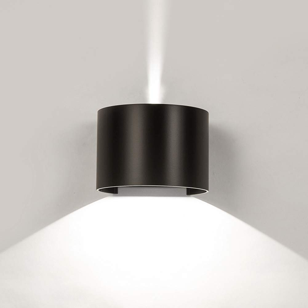 Klighten LED wall lamp, modern design adjustable up and down light beam, 7W black natural white