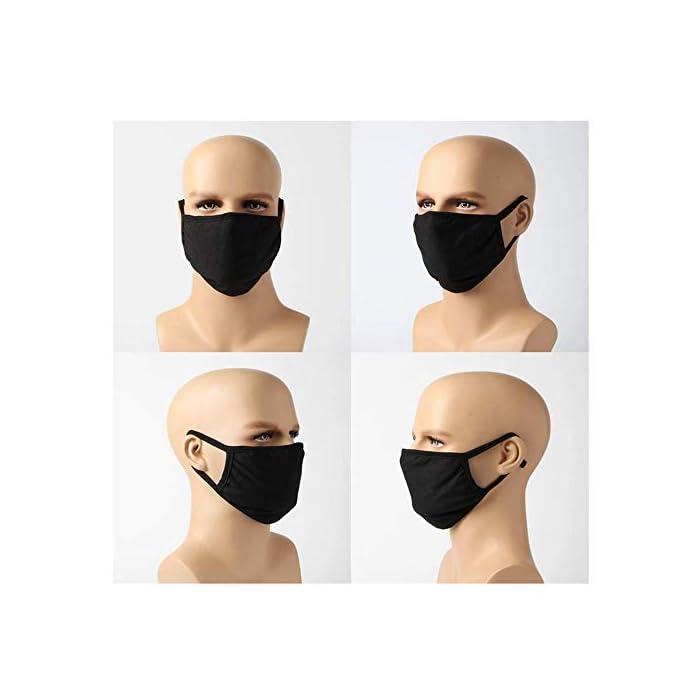 41XWj1QpUHL 1). La máscara facial era de muy buena calidad. Le recomendamos encarecidamente que lo compre por FBA, recibirá en 1-5 días de trabajo como máximo.si la máscara de boca de la cara no se cumplió por Amazon, estaba muy sucio y pobre, y lo recibirá en 2 meses a 8 meses. 2). ULTRA SOFT Y COMFORTABLE WEAR: Capas de algodón transpirable con un centro de anticontreción de propileno de bloque completo, haciendo de nuestra máscara la opción superior en el mercado. 3). RE-USABLE y WASHABLE: Ahorre dinero de máscaras faciales desechables endebles y con picazón. Estas máscaras de limpieza se pueden lavar con agua y jabón. Se seca rápidamente y vuelve a funcionar.