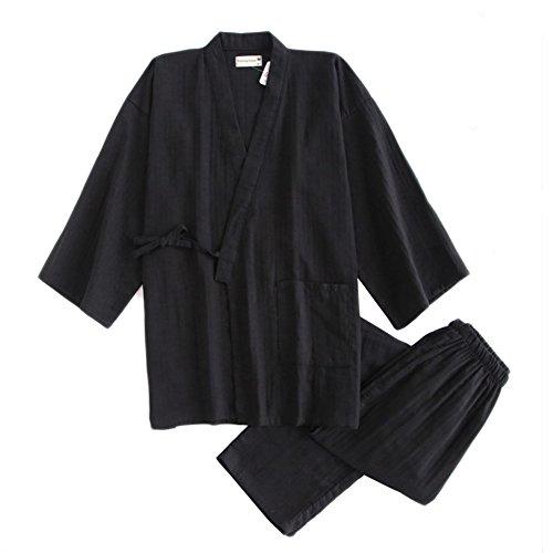8ceba950e4 Fancy Pumpkin Men s Japanese Style Double Gauze Cotton Kimono Pajamas Suit Dressing  Gown Set - Buy Online in Oman.