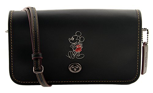 COACH MICKEY Penny Crossbody in Glove Calf Leather Black by Coach