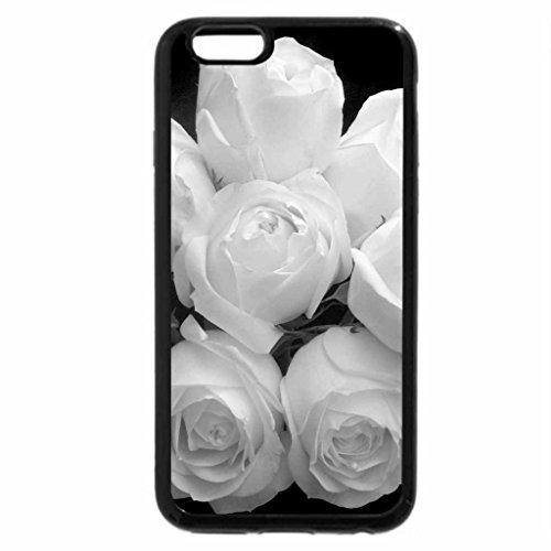 iPhone 6S Plus Case, iPhone 6 Plus Case (Black & White) - The White Roses