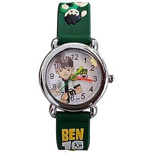 Swadesi Stuff Ben10 Green Color Stylish Kids Watch for Boys & Girls