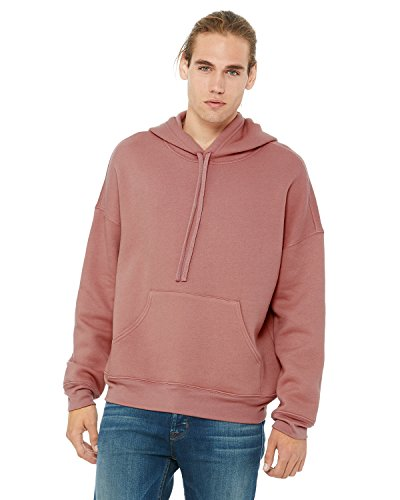 Bella Canvas Men's Sponge Fleece Pullover DTM Hoodie, Mauve, Medium