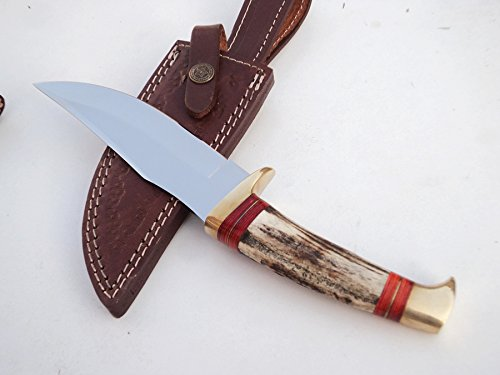 ++ DKC-717-440c BALD EAGLE 440c Stainless Steel Bowie Hunting Handmade Knife Stag Horn Fixed Blade 9.8oz 10 '' Long 5'' Blade DKC KNIVES by DKC Knives (Image #2)