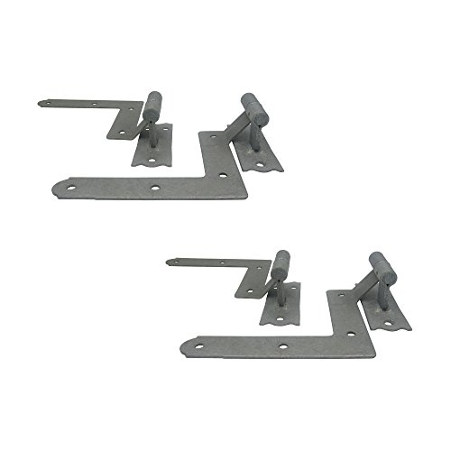 ELBA Galvanized Window Blind Shutter Hinges, Easy to Install for Wood Frame and Brick- 2 Pairs Included (4 Units)