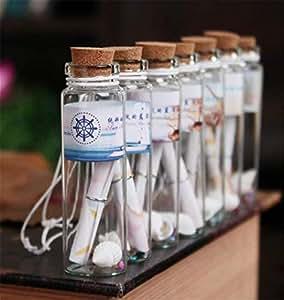 Danmu Art - Botes de cristal con tapones de corcho (12 unidades, 20 ml)