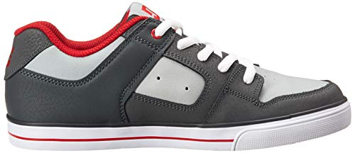 Pictures of DC Pure Elastic Skate Shoe Grey 11. ADBS300350 Grey 3