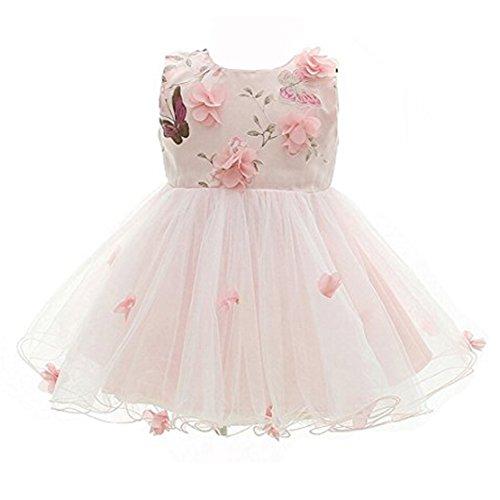 Frock Skirt (Kids Showtime Baby Girl Pink Flower Skirt Special Occasion Butterfly Petals Dress(Pink,24-36M))