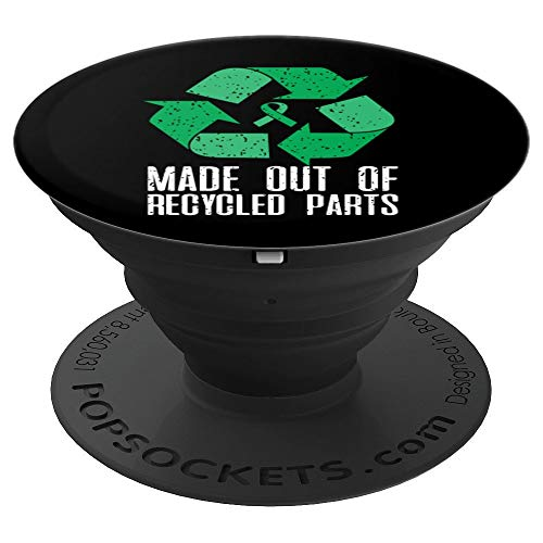 Green Ribbon Recycle Made Out Of Recycled Parts - PopSockets Grip and Stand for Phones and Tablets