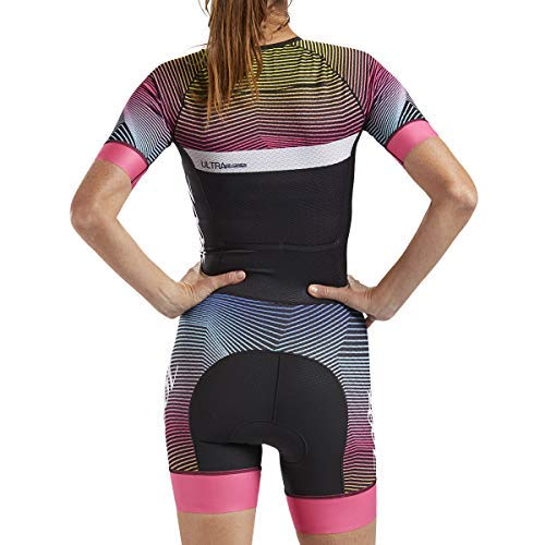 Zoot Women's Ultra Short Sleeve Aero Tri Suit - Performance Triathlon Race Suit with Carbon Fabric and Two Pockets (Small)