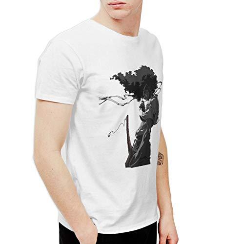 CLANN Afro Samurai Anime Short Sleeve T-Shirt White 3XL]()