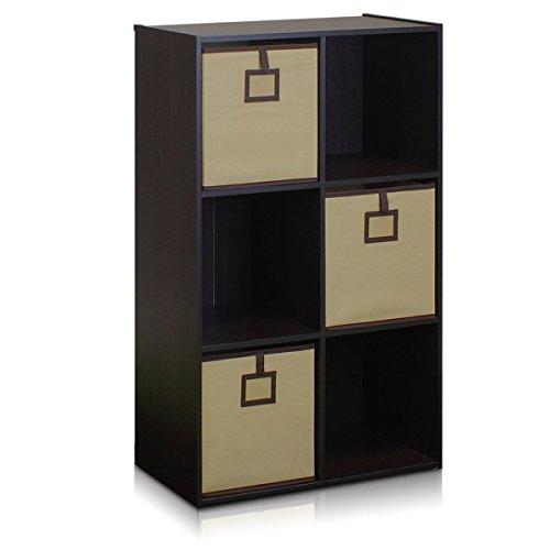 FURINNO 13093EX Bookcase Organizer Espresso