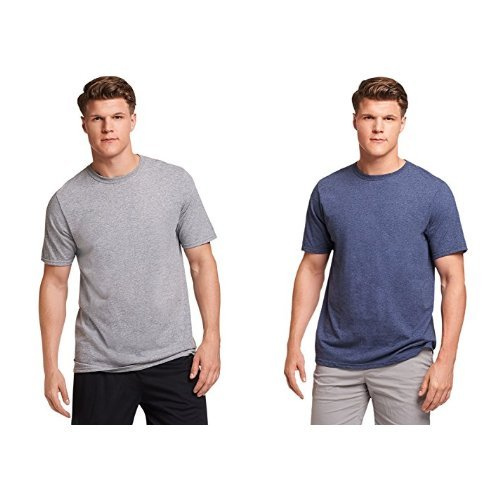 Russell Athletic Men's Essential Cotton T-Shirt, Oxford/Vintage Heather Navy, XL - Russell Pro Cotton