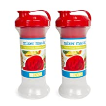 Evriholder 2-Pack Bellyband Mixer Magik Shaker, 20-Ounce, Red