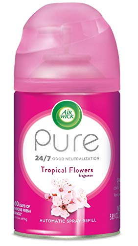 Air Wick Pure Freshmatic Refill Automatic Spray, Tropical Flowers, 5.89 oz, Air Freshener