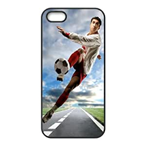 Football iPhone 5 5s Cell Phone Case Black Phone cover Y4449897