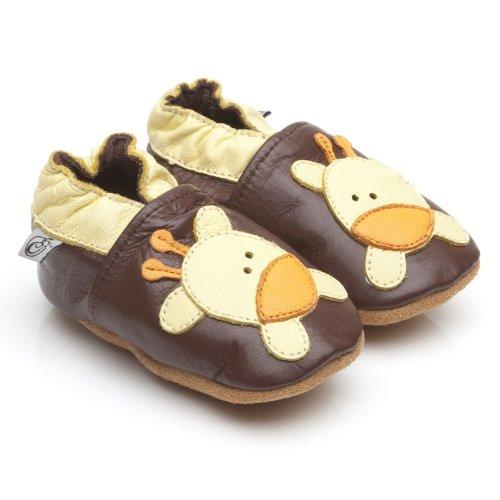 Suaves Zapatos De Cuero Del Bebé Jirafa 18-24 meses