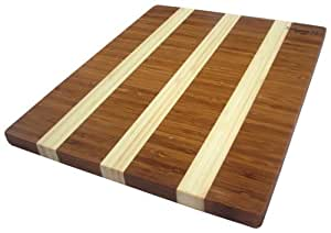 Island Bamboo 18-by-12-Inch Solana Cutting Board and Serving Tray