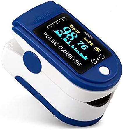 Oxímetro y Pulsómetro para Monitoreo de Saturación de Oxígeno y Latidos por Minuto con Pletismografía Saturación de Oxígeno NEGRO (sin baterias) 3