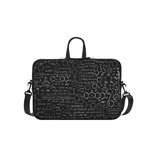 Beautiful Chemistry Vector Seamless Pattern with P Pattern Briefcase Laptop Bag Messenger Shoulder Work Bag Crossbody Handbag for Business Travelling