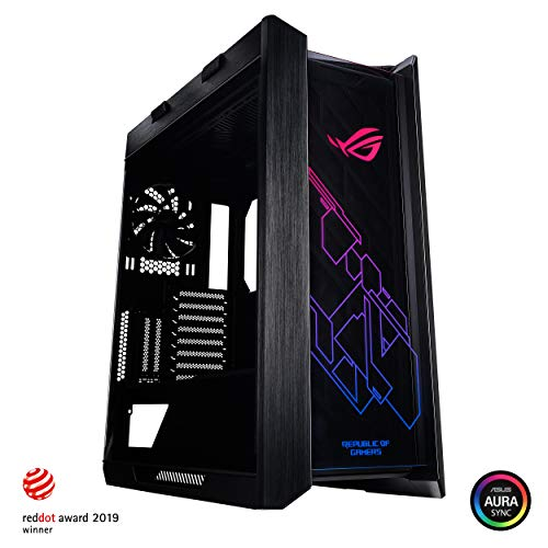 Asus ROG Strix Helios GX601 RGB Mid-Tower Computer Case for up to EATX Motherboards with USB 3.1 Front Panel, Smoked Tempered Glass, Brushed Aluminum and Steel Construction, and Four Case Fans (The Best Pc Case)