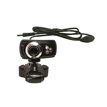 WD100 GiXa Technology HD USB webcam con micrófono y 3 x LED luz de la noche