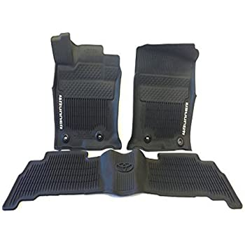 e8c5bde97df Genuine Toyota Accessories PT9088916002 Front and Rear All-Weather Floor Mat  - (Black)