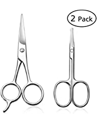 PIXNOR Small Scissors for Nose Hair Beard Mustaches...