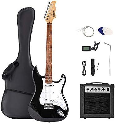 Guitarra eléctrica de tamaño completo de 39 pulgadas, kit de ...