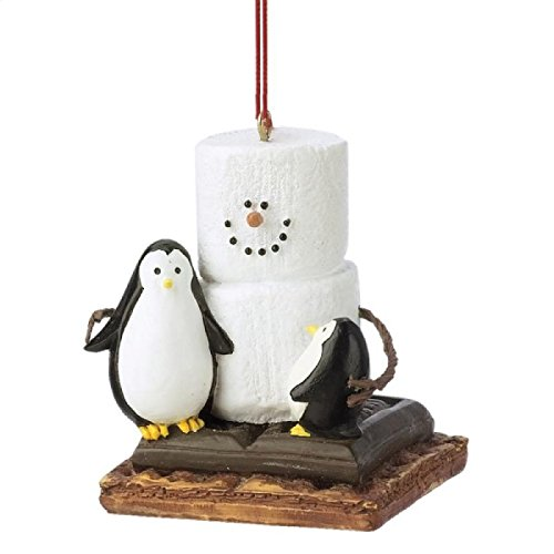 Christmas Decoration S'mores with Penguins Christmas/Everyday (Smore Ornament)