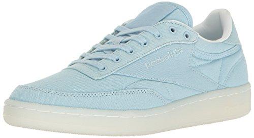 - Reebok Women's Club C 85 Canvas Running Shoe Zee Blue/White 5.5 M US