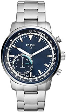 Fossil Men s Hybrid Smartwatch Watch with Stainless-Steel Strap, Silver, 22 Model FTW1173